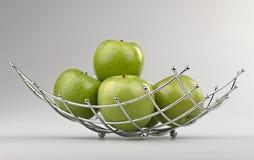 Nowożytny stylowy owocowy kosz Fotografia Royalty Free