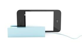 Nowożytny telefon komórkowy w czytniku kart Obrazy Royalty Free