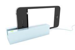 Nowożytny telefon komórkowy w czytniku kart Zdjęcia Royalty Free