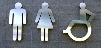 Nowożytny toaleta znak Obraz Royalty Free