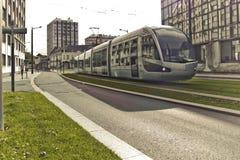 Nowożytny tramwaj Fotografia Stock