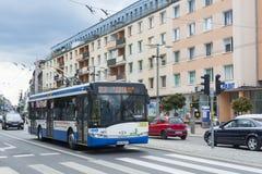 Nowożytny tramwaju autobus Gdynia Fotografia Stock