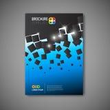 Nowożytny Wektorowy abstrakcjonistyczny broszurka raportu projekta szablon Zdjęcie Stock