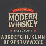 Nowożytny whisky etykietki chrzcielnicy plakat Obraz Royalty Free
