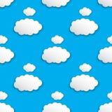 Nowożytny wzór z chmurami Zdjęcie Stock