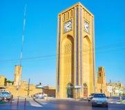 Nowożytny zegarowy wierza w Yazd Zdjęcia Royalty Free