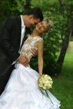 nowo zamężna para Fotografia Royalty Free