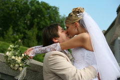 nowo zamężna para Zdjęcia Stock