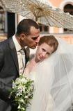 nowo zamężna para fotografia stock