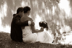 nowo zamężna para Obraz Royalty Free