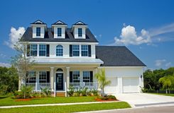 nowo zbudowane przybrzeżne dom Zdjęcie Royalty Free
