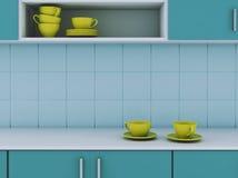 nowoczesna kuchnia 3 d czynią ilustracji