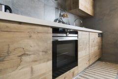 nowoczesna kuchnia drewna zdjęcie royalty free