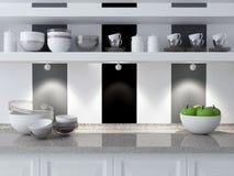 nowoczesna kuchnia projektu Fotografia Stock