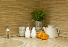nowoczesna kuchnia szczegół Zdjęcie Royalty Free