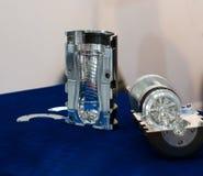 Nowoczesna technologia Plastikowy butelki fabrykować przemysłowy Zdjęcia Royalty Free