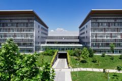 nowoczesne budynku do szpitala Obraz Stock