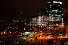 nowoczesne miasto w nocy Fotografia Stock