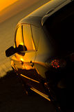 nowoczesne samochodowy sunset patrzy Zdjęcia Stock
