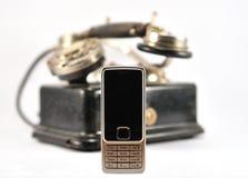 nowoczesne stary telefon Obrazy Royalty Free