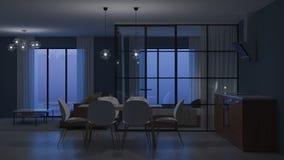 nowoczesne wewnętrznego w domu Sypialnia z szklanymi rozdziałami zdjęcie royalty free