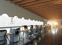 nowoczesne wewnętrznego urzędu Obrazy Stock