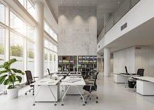 nowoczesne wewnętrznego urzędu budynku Fotografia Royalty Free