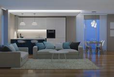nowoczesne wewnętrznego w domu świadczenia 3 d Zdjęcie Stock