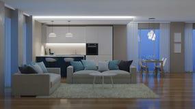 nowoczesne wewnętrznego w domu świadczenia 3 d Fotografia Stock