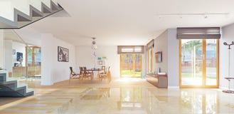 nowoczesne wewnętrznego w domu ilustracji