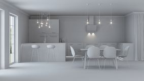 nowoczesne wewnętrznego w domu naprawy szary wnętrze Obraz Stock