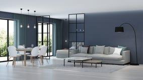 nowoczesne wewnętrznego w domu Sypialnia za szklanymi rozdziałami obrazy royalty free