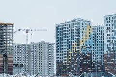 nowoczesne zbudować miejski nowy mieszkaniowy obszaru nowożytna mieszkaniowa ćwiartka miasto Fotografia Stock