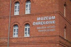 Nowoczesnej-Galerie bei Muzeum Orkegowe (Bedeutung Museums-Bezirk) Stockfotografie