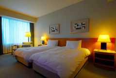 nowoczesny pokój hotelowy wewnętrznego Fotografia Stock