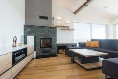 nowoczesny pokój wewnętrzny żywy Zdjęcie Royalty Free
