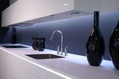 nowoczesny zlew w kuchni Obraz Royalty Free