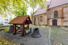 Free Nowogard, Zachodniopomorskie / Poland - October, 22, 2020: Old Catholic Church In The Center Of A Small Town. Brick Christian Stock Images - 199711424