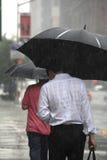 Nowojorczyki w deszczu Fotografia Royalty Free