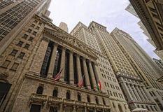 Nowojorska Giełda Papierów Wartościowych na Wall Street Zdjęcie Royalty Free