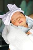 Nowonarodzona Azjatycka dziewczynka Obraz Royalty Free