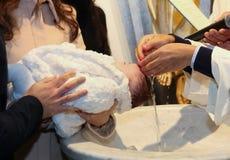 Nowonarodzony dziecka ochrzczenie Obraz Stock