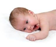 nowonarodzony dziecka poziewanie Zdjęcia Stock