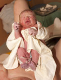 Nowonarodzony dziecko po narodziny obraz royalty free