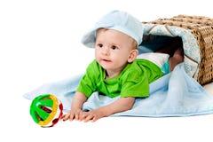 nowonarodzony odosobniony dzieciak Zdjęcie Royalty Free