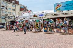 Nowonarodzony zabytek w Pristina Fotografia Stock