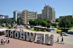Nowonarodzony zabytek w Pristina, Kosowo obrazy royalty free