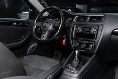 Nowosibirsk, Russland - 25. Januar 2019: Volkswagen Jetta lizenzfreie stockfotografie