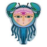 Nowotwór - dekoracyjny zodiaka znak Fotografia Royalty Free