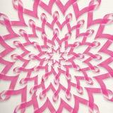 Nowotwór piersi świadomości menchii faborku dekoracja Obraz Stock